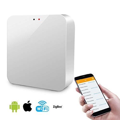 pegtopone Smart Home ZigBee Kontrollzentrum Funkschalter Intelligentes Gateway Controller, Für SmartThings WiFi Router Range Extender Smart Gateway Controller, Weiss