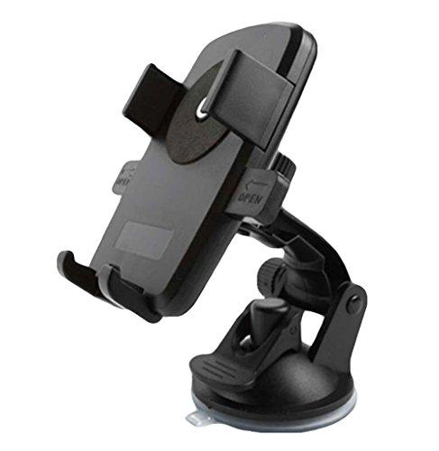 MONALA Coche Aire acondicionado Soporte de salida de aire 360 ° Soporte giratorio del teléfono del coche Soporte de navegador de bloqueo automático (negro)