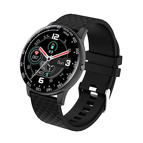 Jiutai - Reloj inteligente para salud y rehabilitación H30, pulsera deportiva, pulsera de actividad con presión de frecuencia cardiaca, sang para hombres y mujeres, color negro