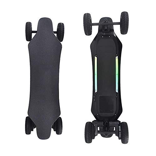 DX Patineta eléctrica, Longboard Electrónico Todo-Terrain SUV Control Remoto Off-Road Skateboard,Alta Velocidad...