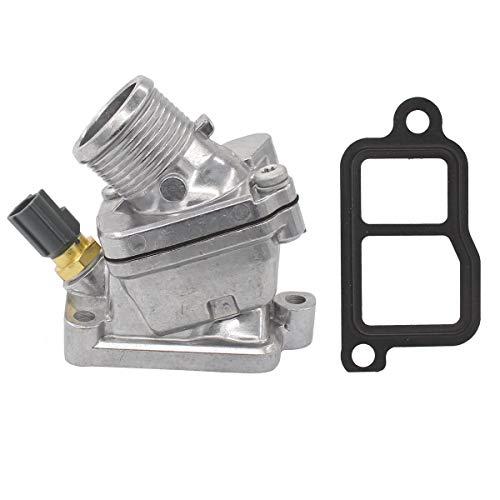 NewYall Engine Coolant Thermostat w/Housing & Temperature Sensor & Gasket