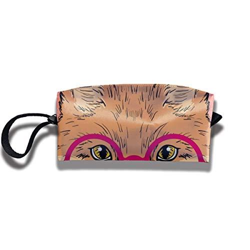 Bbhappiness Pouch Handbag Cosmetics Bag Case Purse Travel & Home Portable Make-up Receive Bag Style Fox
