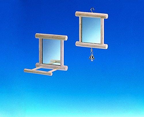 Nobby Holzspiegel mit Glocke 10 x 10 cm