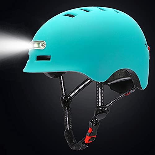 HYYK Casco de Bicicleta Inteligente con 3 Tipos de Luces de Advertencia y Casco de Ciclismo Ligero de luz Trasera, Casco Inteligente cómodo, Ligero, Transpirable e Impermeable