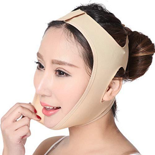 NBALL-TT Mascarilla de elevación de la Cara de Vendaje Ajustada Facial con la Cara de la Cara lamiendo el cinturón de apriete para el Cuello y la Barbilla, antienvejecimiento,M