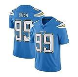 99# BOSA T-Shirt de Fan de Sports de Loisirs de Plein air de Rugby pour Hommes, Version brodée, Confortable et Respirant, Honneur au dernier Moment-Blue-M