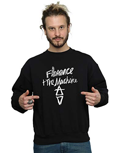 Absolute Cult Florence and The Machine Homme Hand Drawn Logo Sweat-Shirt Noir Small