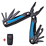 Multi Tool Knife 12in1 - Best Pocket Multitool with Pliers Screwdriver - Multipurpose Set Kit of Utility Tools 12 Functions - Best for Outdoor Fishing Camping EDC Survival Backpacking Hiking 104021