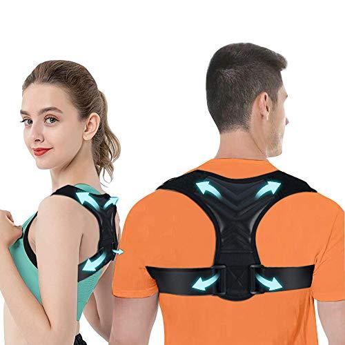 iThrough Haltungskorrektur, Rücken Geradehalter Verstellbare Haltungskorrektur Rückenstütze,Verbesserung der Körperhaltung und Schmerzlinderung von Nacken Rücken Schulter (Größe: L)