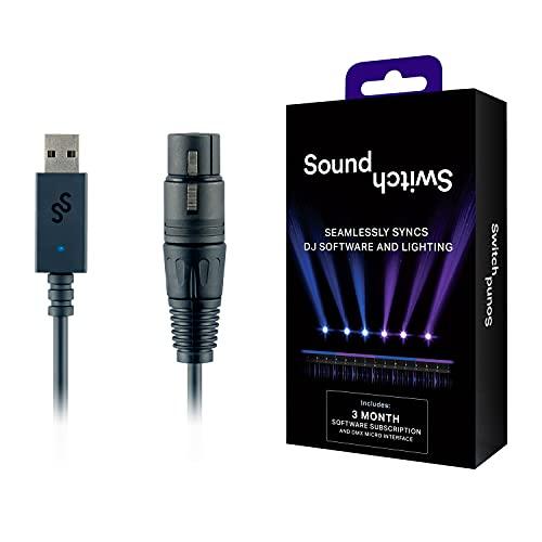 SoundSwitch Micro DMX Interface – Ultrakompaktes USB auf DMX Interface inklusive kostenloser Nutzung der SoundSwitch Software für 3 Monate