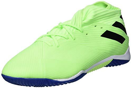 adidas Men's Nemeziz 19.3 Indoor Soccer Shoe, Signal Green/Black/Team Royal Blue, 11 M US