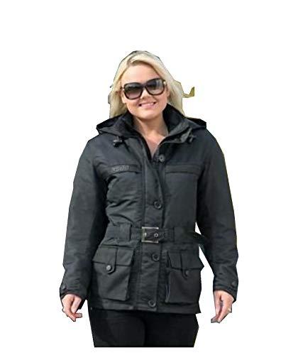SunnyTrade Germas Jacke Downtown Lady - Motoradjacke für Damen Leder - tolle Qualität - robust und weich zugleich, Größe:40