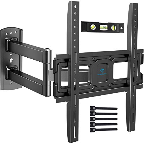 PERLESMITH TV Wall Mount Bracket Full Motion Single Articulating Arm...