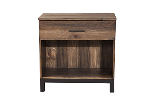 Origins by Alpine Weston Nightstand, 28' W x 16' D x 28' H, Rustic Pine Finish
