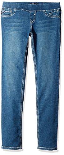 Vigoss Girls' Girls' 5 Pocket Classic Pull on Skinny Jean, Blueberry Cream, 16
