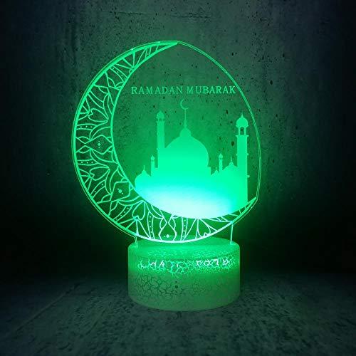 Lampe D'Illusion 3D Big Moon City Led Night Light Home Room Decor Cadeaux Pour Les Membres De La Famille