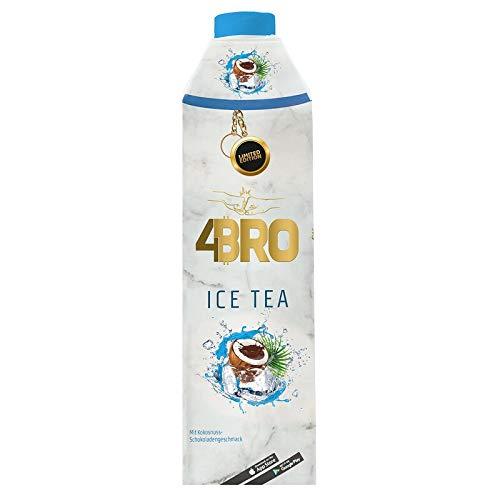 4Bro - Ice Tea Coco Choco 1000ml | der Eistee für Gamer. Shisha und Eis Tee Liebhaber