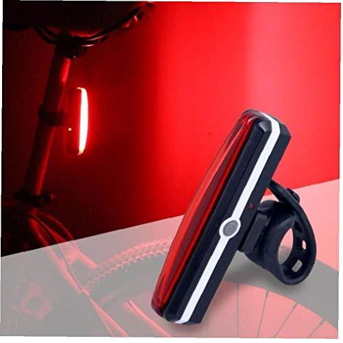 1pc Posterior De La Bici Luz USB Recargable, Bicicletas Luz De Fondo De La Luz Trasera De La Bicicleta a Prueba De Agua Combinaciones (Rojo)