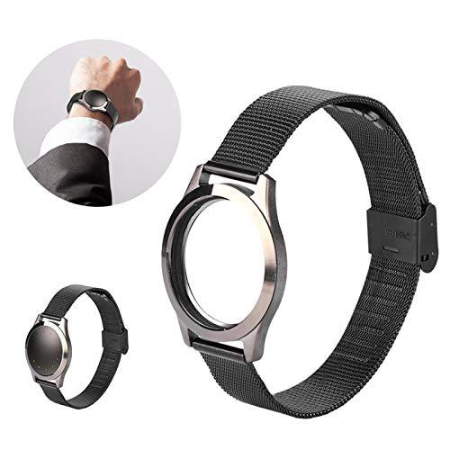 Orologio da polso intelligente Cinturino da polso Morbidezza portatile Acciaio inossidabile moderato per Misfit Shine 2(black)