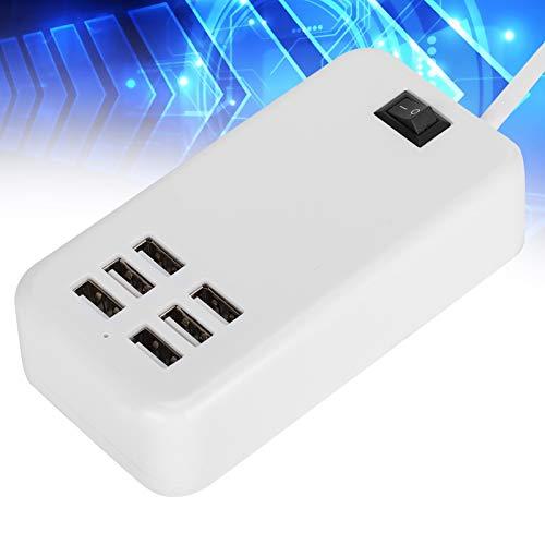 FECAMOS Adaptador de Corriente USB de Escritorio, Amplia aplicación, con Buenas Funciones, para Interiores, para MP3, para MP4(Transl)
