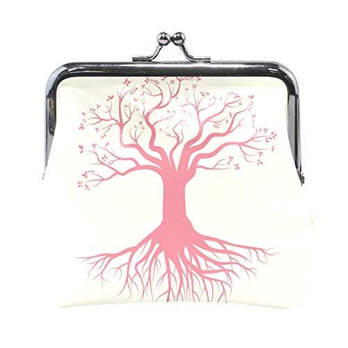 Bolsa de monedero para mujer con diseño de árbol con raíces