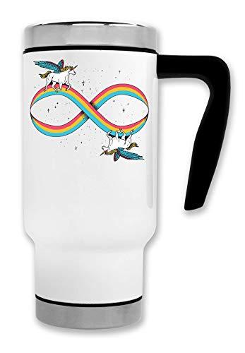 ShutUp Unicorn Infinity Magic Stars Thermische Reise-Kaffee-Tee-Tasse