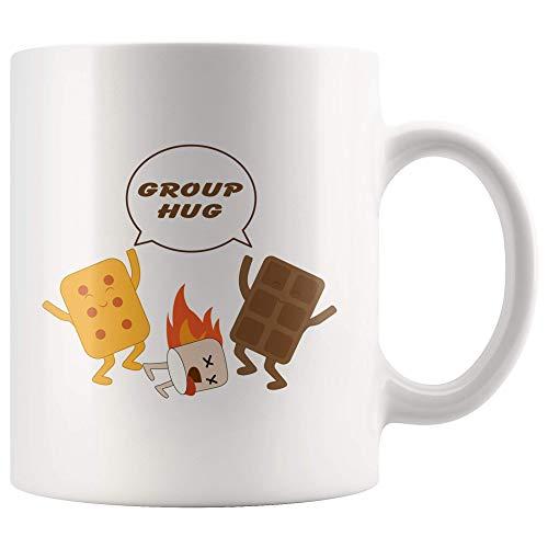Groep Knuffel Solidariteit Smores Chocolade Marshmallow Groep Therapie Inspirerende Geschenken Witte Koffie Mok Geschenken voor Office Coworkers