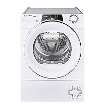 Candy RO H9A2TCE Freestanding Rapido Heatpump Tumble Dryer, Wifi Connected, 9kg Load, White