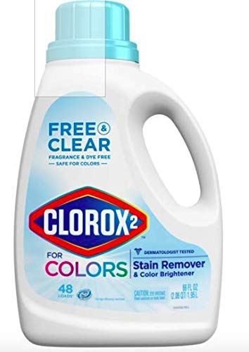 Clorox 2 Free & Clear Laundry Stain Remover and Color Booster (Pack of 2)