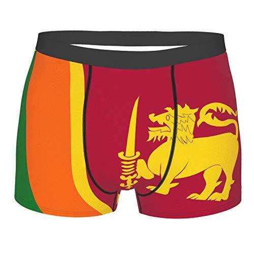 Stars and Circles Herren Boxershorts, atmungsaktiv, weich, elastisch Gr. XXL, Flagge Sri Lankas