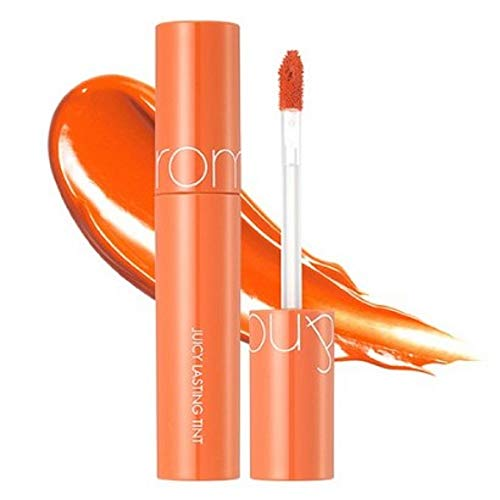 [rom&nd] Juicy Lasting Tint 16 colors | Vivid color, Glossy Finish, Long-lasting, moisturizing, Highlighting, Natural-beauty | Lip Tint for Daily Use, K-beauty | 5.5g/0.2oz No.01 JUICY OH