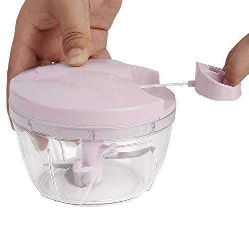 Picadora de Carne Multifuncional con Potencia Manual, exprimidor, trituradora de Carne con diseño Manual para la Cocina casera(Pink)