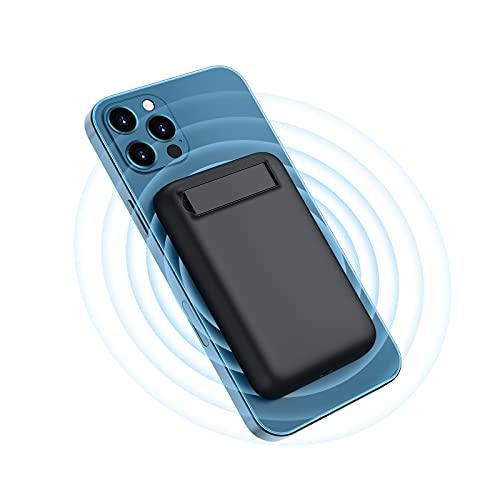 Magnetic Wireless Power Bank, Charmast 5000mAh Magnetic Wireless Portable Charger Battery Pack for iPhone 12/12 Pro / 12 Pro Max (20W PD & 15W Wireless Quick Charge)