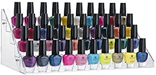 Home-it Nail polish holder Acrylic 5 Step Counter Display Holds up 60 Bottles