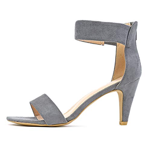 Guilty Shoes - Elysa-1 Grey Suede, 8.5