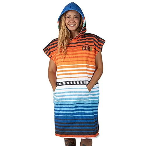 COR Surf Schnelltrocknend Surf Poncho Herren und Damen, Umkleidehilfe extra lang aus Mikrofaser – Badeponcho und Poncho Handtuch zugleich