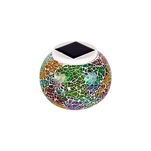 Bola de luz de jardín, luz de bola de cristal solar, colorida y delicada luz de bola de cristal RGBW Luz de jardín práctica Luz de noche Lámpara de mesa recargable a prueba de agua para interior