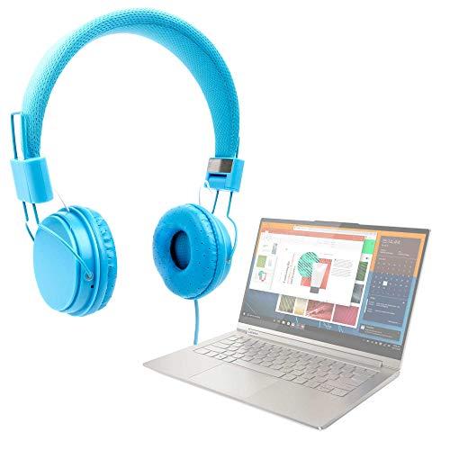 """DURAGADGET Auriculares De Diadema Color Azul Compatible con Portátil Lenovo Yoga C940 (15""""), Lenovo Yoga C940 (14"""")"""