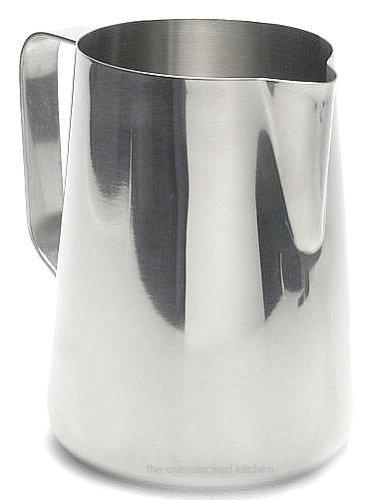 Eine neue große 50oz. (Unze) von Kaffee Espresso für die Schaum von Milch Krug, Dampfgarer Krug von frotizzazione, Edelstahl (18/10Gauge) (1, A)