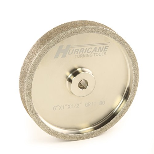 "Hurricane 6"" CBN Grinding Wheel, 80 Grit, 1.0"" Wide, 1/2"" Bore, for Sharpening High Speed Steel Tools"