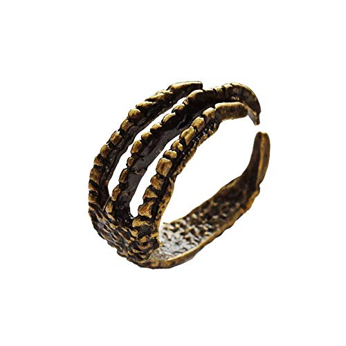 Hunpta Eagle Claw Ring Boho Jewelry Stackable Retro Open Ring Adjustable Ring (Gold)