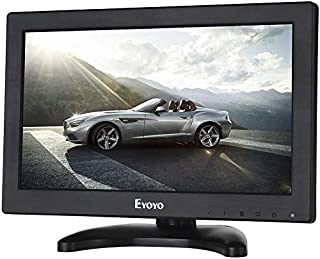 """Eyoyo 12"""" Inch TFT LCD Monitor with AV HDMI BNC VGA Input 1366x768 Portable Mini HD Color Screen Display with Built-in Spe..."""