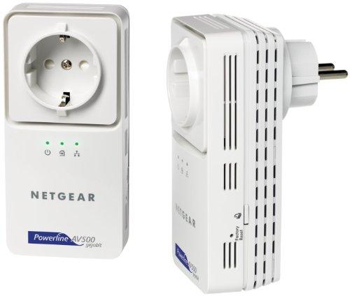 NETGEAR Powerline AV+ 500 Netzwerkadapter-Kit 2x XAV5501 (ML, Netzwerk aus der Steckdose)