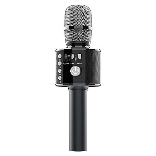 Bluetooth Karaoke Microphone - Xpreen Wireless Microphone, Portable Microphone and Speaker, Car Microphone for Home Party, Karaoke Microphone for Kids Suitable Android/iPhone/PC or All Smartphone