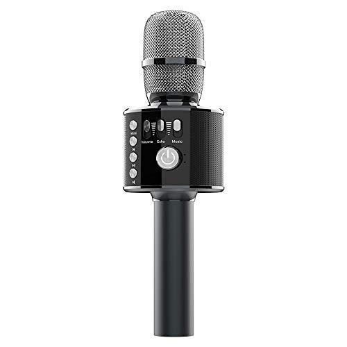 Bluetooth Karaoke Mikrofon, Xpreen Drahtloses Bluetooth-Karaoke-Mikrofon Tragbares 3-in-1-Karaoke-Handmikrofon ufnahmen, hören und singen, mit Android, IOS, PC sowie APP kompatibal