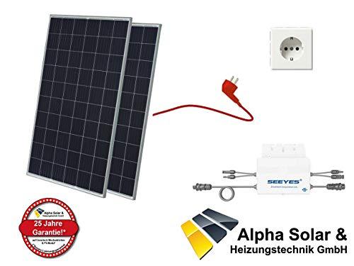 550W Balkonkraftwerk JA Solar - PV-Anlage - (2xJA Solar, 1xEVT560) inkl. Anschlusskabel und Schukostecker