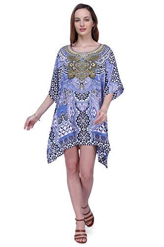 Miss Lavish London Kaftan Dress - Caftans for Women - Women's Caftans Suiting Teens to Adult Women in Regular to Plus Size (158-Blue 18-22)