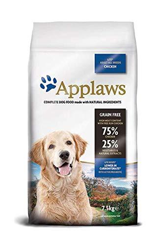 Applaws Hund Trockenfutter, Huhn, Leichtes Futter, 1er Pack (1 x 7,5 kg)