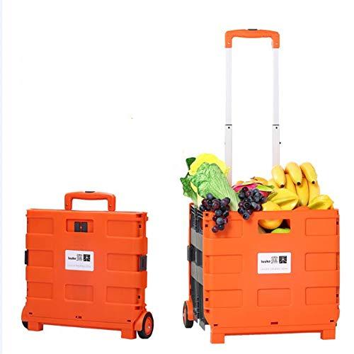 fang zhou, tragbarer und Faltbarer Rollwagen mit Hocker, Supermarkt-Trolley, Mehrzweck-Handwagen, ideal für Büros, Schulen, Lager