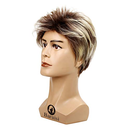 Baruisi-80s-Mens-Wig-Blonde-Short-George-Wig-Synthetic-Cosplay-Costume-Halloween-Wig-for-Fancy-Dress